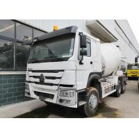 White 10CBM Concrete Mixer Truck , RHD 10 Wheels Concrete Mixer Pump Truck Manufactures
