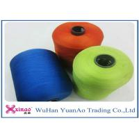 Spun High Tenacity Polyester Yarn , Colorful High Strength  Spun Yarn for Sewing Manufactures