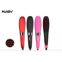 China Ceramic Electric Home Hair Straightener Comb Brush With PTC Heating Plate on sale