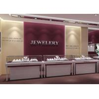 Wooden MDF + Tempered Glass Jewelry Display Cases With Light Manufactures