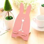 76g Rabbit Shaped Wooden Universal Desktop Magnet Holder for Mobile Phone Manufactures