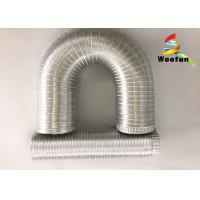 Aluminum Uninsulated Flexible Duct Pipe Stretchable Fire Resistance Manufactures