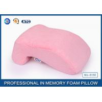 Elegant No Hole Memory Foam Nap Rest Pillow With Cotton Velvet Cover Manufactures