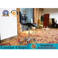 Anti -  Ultraviolet Casino Gaming Chairs  ,  Modern Mini Fixed Armrest Lifting Rotary Computer Chair Manufactures