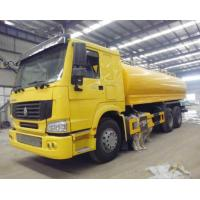 Yellow HOWO 4x2 12 cbm Sprinkler Water Tank Truck Euro 2 Left Hand Drive Manufactures