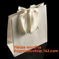luxury paper shopping bag for jewellry, twist handle luxury print fancy brown kraft art paper carrier bag wholesale Manufactures