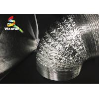 Quality HVAC System Range Hood Exhaust Duct Double / Single Aluminum Foil With Fire Resistant Materials for sale