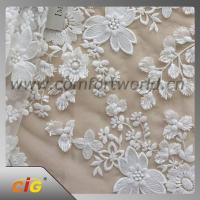 Cotton Nylon Spandex  Embroidered Lace Trimming Fabric For Garment / DIY Craft Manufactures