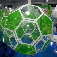 1.0mm PVC White / Green Inflatable Walk On Water Ball Manufactures