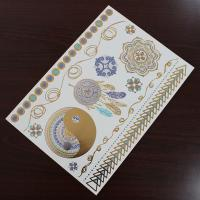 Water Transfer Temporary Metallic Jewelry Tattoo Stickers Environment Friendly Manufactures