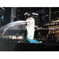 Lion Head  Water Shooting Sculpture Water Fountains For Park Or Garden Manufactures