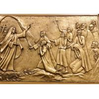 China Modern Religious Wall Art Decor Bronze Relief Sculpture Corrosion Stability on sale