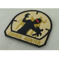Economic Military Uniform Badges ,  Iron Glue Cotton Fabric Embroidered Patches Manufactures