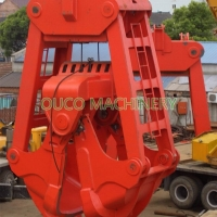 NM400 Material Dredging 2 Peel Clamshell Mechanical Grab Bucket Manufactures