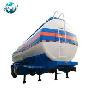 China 3 axles liquid Semi tanker Trailer for diesel oil Fuel Oil storage on sale
