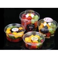 China High-Transparent Clear Disposable Salad Bowls , Disposable Plastic Dessert Bowls on sale