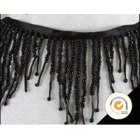 Wholesale Black Bead Fringes Trim Beaded Trimming Embroidery Applique Trimming Manufactures