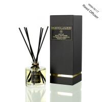 Luxury Transparent Round Bottle Home Reed Diffuser with Black Gift Box Manufactures