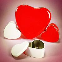 Quality  Color Heart Shape Tin Box For Candy/Sweet/Chocolate/Cookies for sale