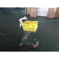 China Chrome plated Shopping Basket Trolley , personal shopping cart on sale
