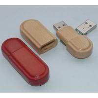 Quality Full Capacity Shockproof 64GB Wooden USB Flash Drive for sale