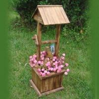 Wooden Flower Pot, Measuring 26 x 26 x 73cm, Customized Designs, Sizes and Shapes Available Manufactures