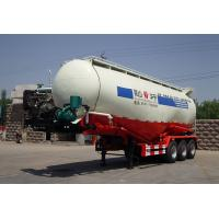 Carbon Steel Stable Cement Bulk , Bulk Tank Truck With 3 Axles For Fly Ash Manufactures