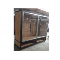 Clear Tempered Glass Door Wall Mounted Display Cabinets Commercial Retail Commercial Retail Manufactures