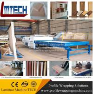 China mdf laminated furniture door vacuum membrane press machine on sale