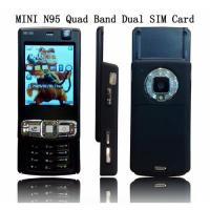 Mini n95 quadband dual sim card mobile phone with good price ! Manufactures