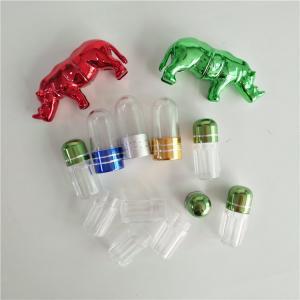 Bullet Shape Sex Enhancement Pill Capsule Packaging Bottle With Metal Cap Manufactures
