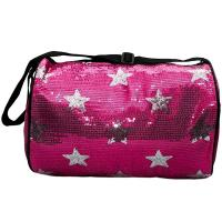 Red Sequin Travel Duffel Bags With Adjustable Shoulder Strap Strong Tank Manufactures