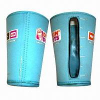 China Neoprene Insulated Coffee Cup Holder with 5 x 8 x 9.5cm Dimension on sale