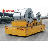 Battery Powered Material Coil Transfer Cart , Steerable Trackless Electric Transfer Cart For Industry Manufactures