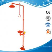 SH712BSR-RED shower & eyewash station,SS304 Foot pedal emergency shower Manufactures