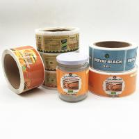 Cheap Self Adhesive Paper Sticker Customized Private Logo Food Labels With Glossy Lamination Manufactures