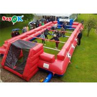 China Indoor Inflatable Sports Games Human Foosball Court Red Inflatable Table Football Game Field on sale