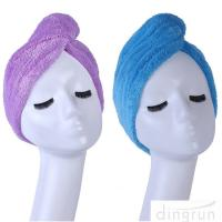 Super Absorbent Fast Drying Microfiber Hair Turban Towel Wrap Manufactures