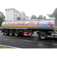 Stainless Steel 30 Tons Fuel Tank Trailer Tri-Axle 35000L 35M3 Fuel Oil Transport Tank Semi trailer Manufactures