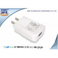 Intertek Pure White US Plug Wall USB Charger 5V 2A with One Port , Small Size Manufactures