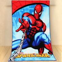 China Cheap Kids Microfiber cartoon printed spider-man beach towels on sale