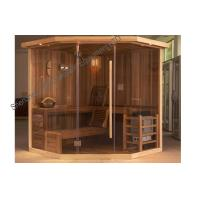 Solid wood sauna cabins , electric traditional sauna room for dry sauna Manufactures