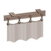 China Copper Color Aperture 6mm Metal Mesh Drapery, Metal Chain Curtains Space Divider on sale