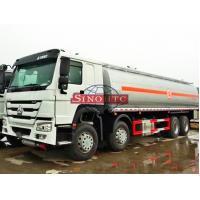 8 X 4 HOWO Oil Tanker Truck For Loading Fuel / Gasoline 6000 Gallons Volume Manufactures