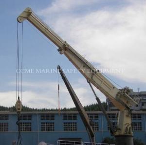 Hydraulic Telescopic Boom Marine Crane Ship Deck Crane Manufactures