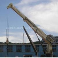 Buy cheap 4t@30m Hydraulic Telescopic Boom Marine Crane Ship Deck Crane from wholesalers