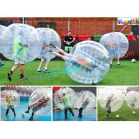 China Transparent Body Zorb Ball / Bubble Football Ball / Bubble Bumper Ball With TPU on sale