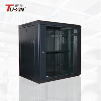 Waterproof White Wall Mount Data Rack Powder Coating Toughened Glass Door Manufactures