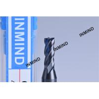 1mm 4 Flute HRC55  TiSiN TiAlN Coating , Carbide End Mill ,  Germany Rod , Carbide Milling Cutters Manufactures