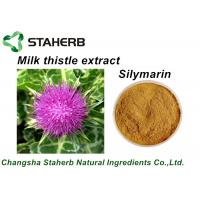 Pure Natural Plant Extracts Milk Thistle Extract Silymarin Powder For Liver-Protect Manufactures